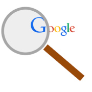 google search with a magnifying glass